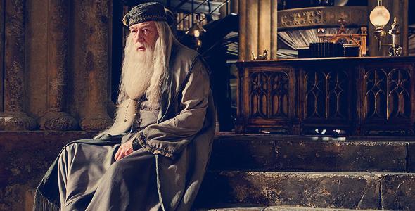 Dumbledore em Enigma do Príncipe